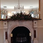 Fireplace in ceremony room