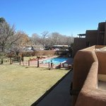 View of the pool from the outdoor patio area