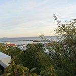 Blick von der Terrasse auf Ormos