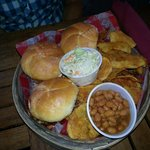 Sliders with beans and chips