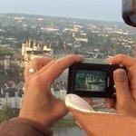 Amboise, depuis la nacelle d'Art Mpntgolfières