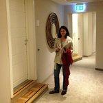 Our suite door and hallway!
