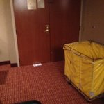 dirty linen cart left in our room