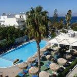 Poolside view Kos Hotel