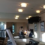 A small gym room that's well equipped. Located in the spa facility.