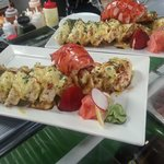 lobster roll local lobster tail in sushi roll)