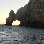 The famous arch from a sunset boat cruise