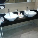 very nice & clean double sinks
