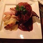 Roast partridge and potatoes dauphinoise