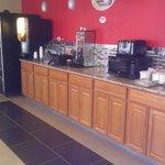 New breakfast area