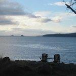 Adirondack Chairs to view the Sunrise, Welbury Point