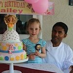 Cake Boss with the Birthday Girl and Barbie cake