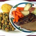 Pot Roast, Sides and Cornbread