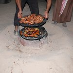 Bedouin cooking style