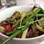 Salad with the fishcake
