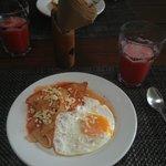 Typical breakfast - Mi Casa Cozumel
