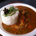 thai curry with jasmin rice