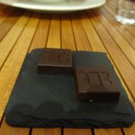 HotelChocolat chocolates at dinner