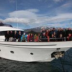 The team from Camp Quality NZ aboard the Pacific Jemm