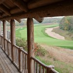 View from deck towards course
