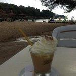 nearest beach, 2 min away