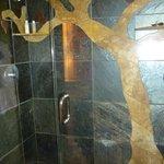 "Shower in the ""wood"" room - Pelton house"