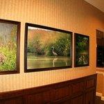 Local wildlife art in lobby