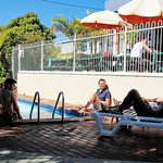 Chill out by the pool. Open all year round and perfect for enjoying the Hervey Bay sun.