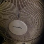 They provide a fan for the room, which is good but it needs cleaning!!