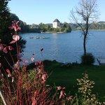Schloss from lake walk.