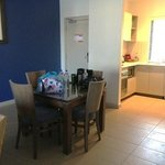 Dining area, 1 bed apartment