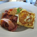 Yummy bacon and eggs at Divine Cafe, Penola