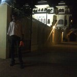 Me, in front of hotel