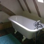 The attic room lovely free standing bath