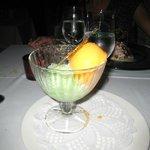 le sorbet mangue et pomme verte
