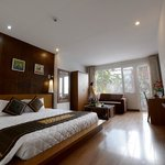 Suite room is 40m2 large with view and spa bathroom