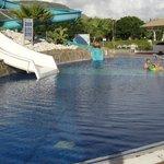 Kids slide pool