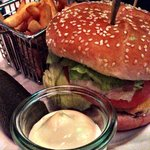 Cheeseburger and fries