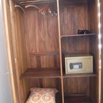Hair dryer and safe in closet