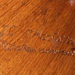 Inscription in Restaurant Table