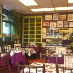 Lovely insie decor of the cafe