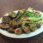 Vegetables on grill.