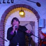 Lead singer looking happy....