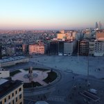 View from The Marmara, Taksim square, early morning