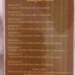 Breakfast menu selection
