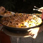 The yummiest (and biggest!) paella I have ever seen!!