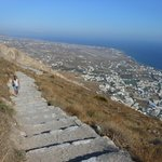 The steps to Thira (after paying only 2 Euros to enter) - Excellent value