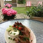 Home smoked ribs in our restaurant garden