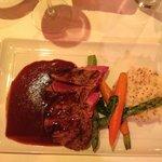 Superbe steak avec purée maison a la moutarde
