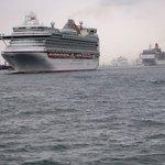 The P&O Fleet zigzagging down Southampton Water
